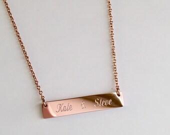 Bridesmaid gift discount, bridesmaid necklace, bar necklace initial bar necklace , personalize, bar necklace bar necklace,