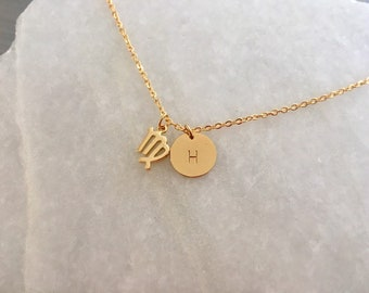 birth sign , Zodiac Sign:,Bridesmaids Necklace,  Initial Necklace, Personalized Necklace,