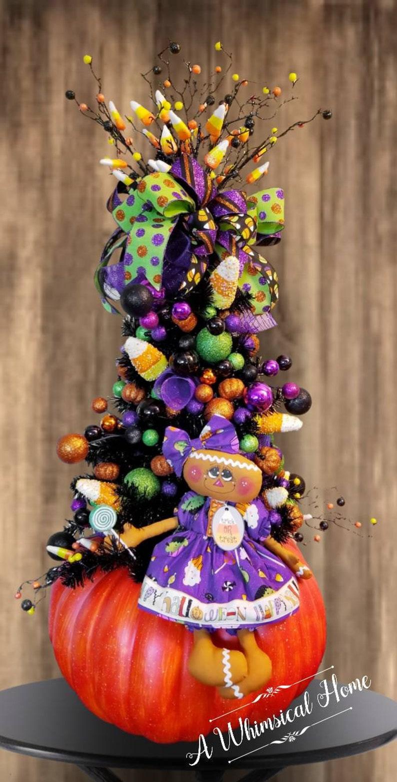 HALLOWEEN TREE  Halloween Centerpiece  Whimsical Halloween image 0