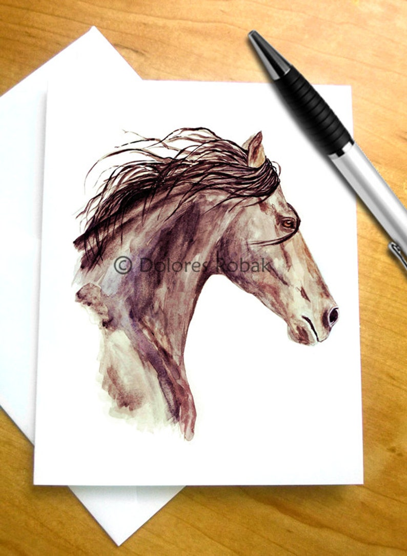 Horse Birthday Card Thank You Greeting