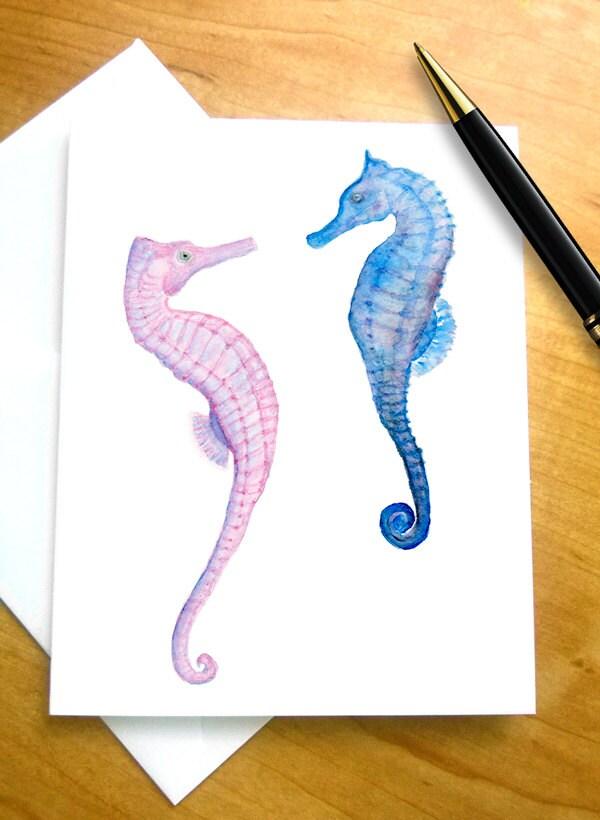 Seepferdchen-Briefpapier Seepferdchen-Geschenke Seepferdchen | Etsy
