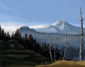 Mt. Rainier painting - landscape painting - pleinair 8x10