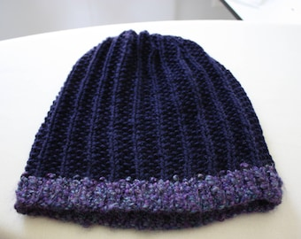 Pebble Ribbed Slouch Hat