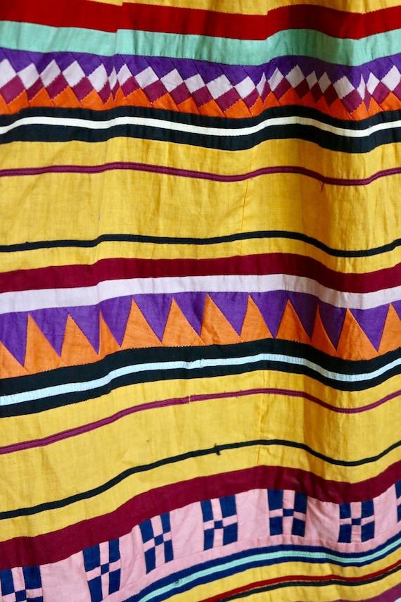 Vintage 1950's Seminole Color blocked Dress | Siz… - image 7