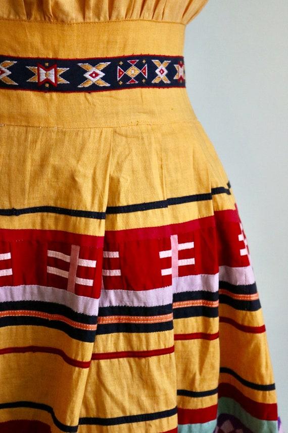Vintage 1950's Seminole Color blocked Dress | Siz… - image 3