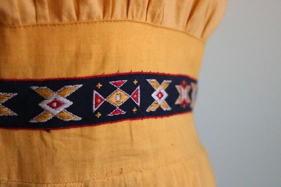 Vintage 1950's Seminole Color blocked Dress | Siz… - image 4