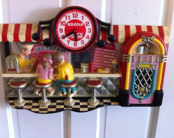 Coke Cola IceCream Diners Clock