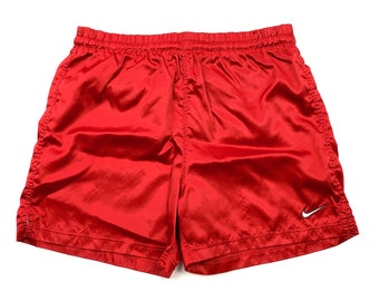 1c46176336d Vtg 90s Nike Retro Red Logo Active Gym Shorts Men's