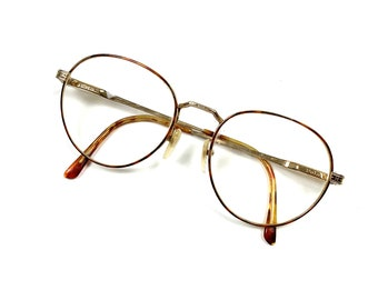 c56eaa86b6da Vintage POLO Ralph Lauren Retro Prescription Eye Glasses Gold Metal Frames  50-19-140