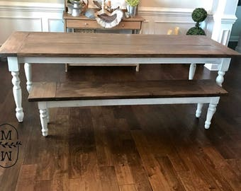 Charmant The Amelia Table, Turned Leg Farmhouse Table