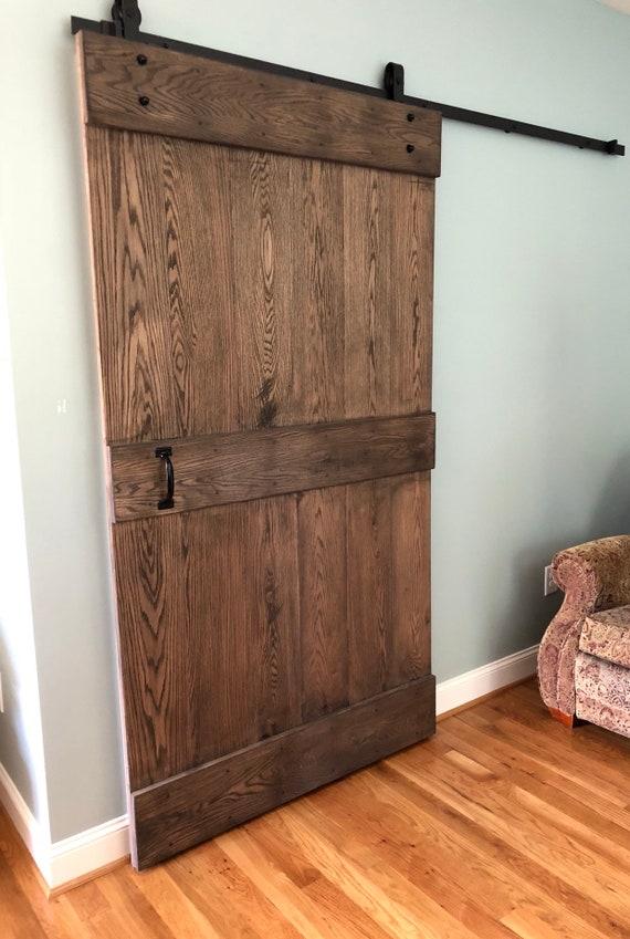 Sliding Oak Barn Door Including Hardware Etsy