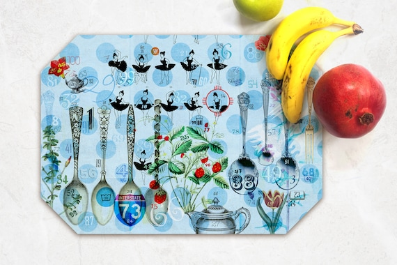 blue airplanes placemats with all the numbers 1-100 Fun preschool math!
