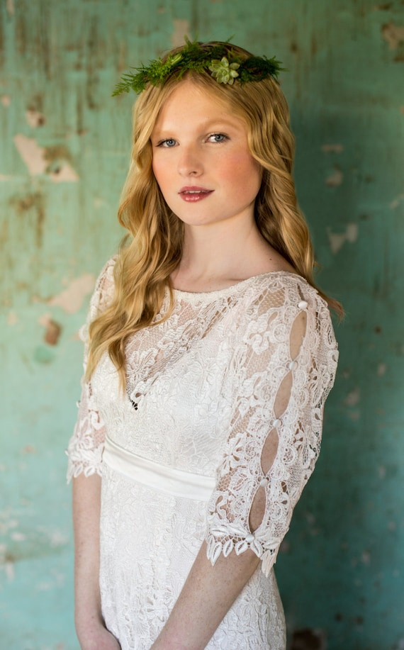 Backyard Wedding Dress Casual Wedding Dress Vintage Inspired Etsy