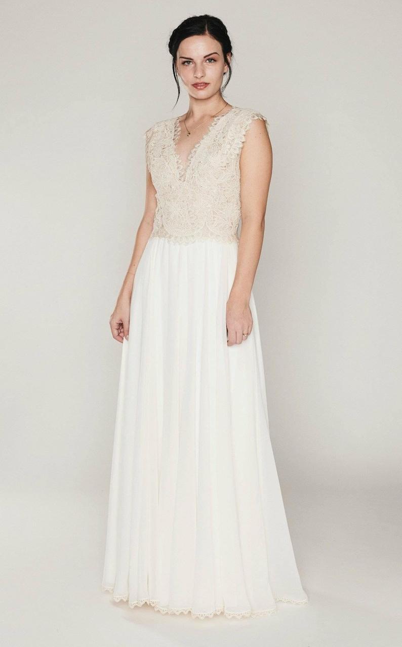 Boho Wedding Dress Casual Wedding Dress Simple Wedding Dress Rustic Wedding Dress Backyard Wedding Dress Hippie Wedding Dress