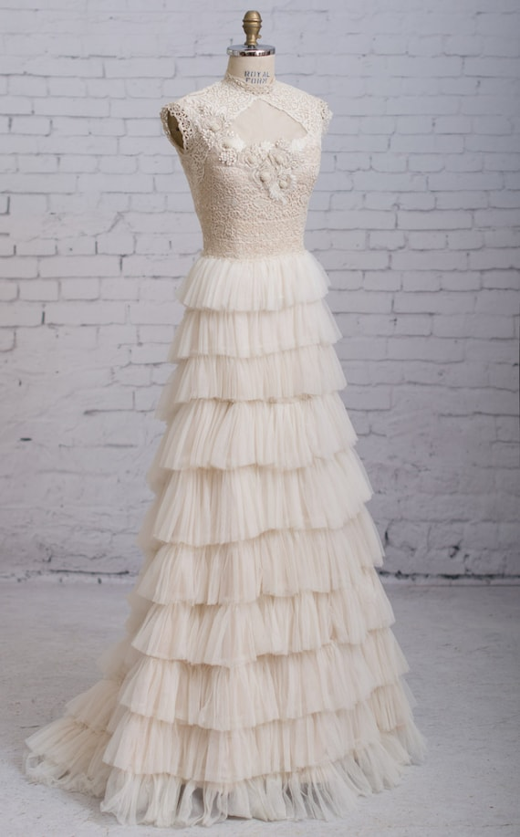 Steampunk Wedding Dresses | Vintage, Victorian, Black Steampunk wedding dress Victorian wedding dress Vintage inspired wedding dress Antique Lace Wedding Dress $1,500.00 AT vintagedancer.com