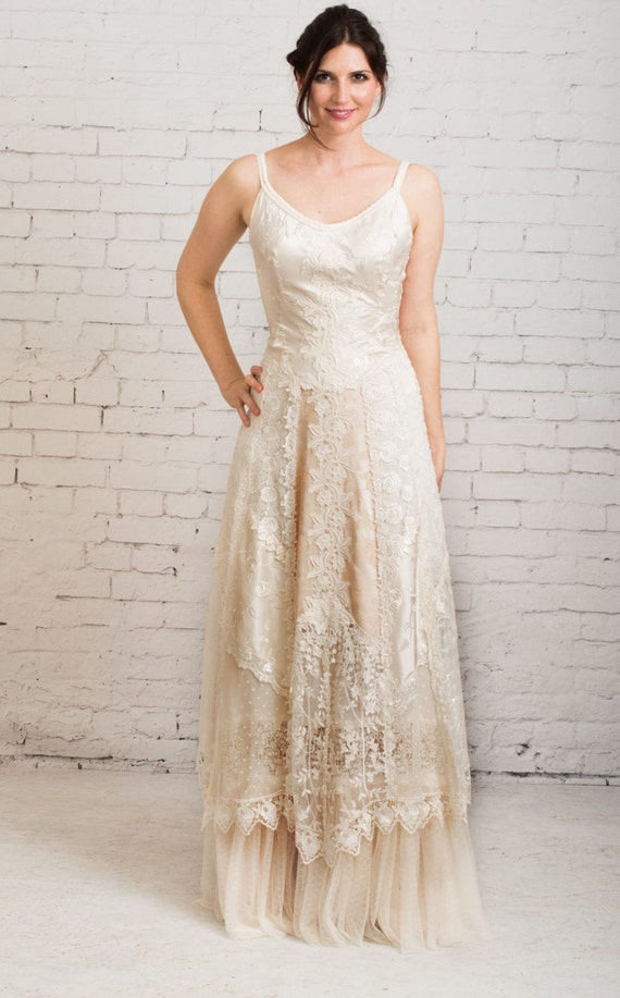 Boho Wedding Dress Casual Wedding Dress Simple Wedding Etsy