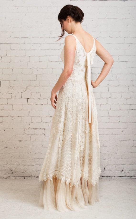 Boho Wedding Dress Casual Wedding Dress Simple Wedding Etsy