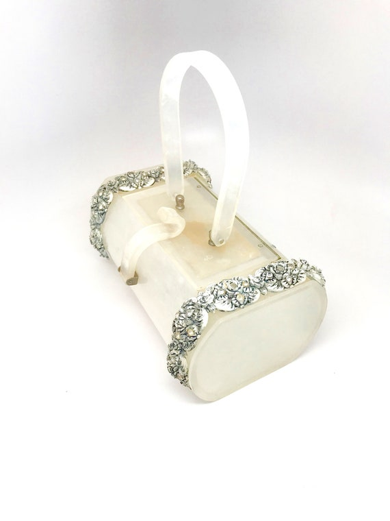 White Lucite Bag Purse Rare - Wilardy Lucite Whit… - image 2