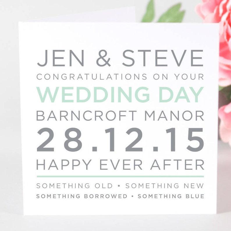 customised wedding card card for wedding day Personalized Wedding Card Wedding Card Personalised Wedding Card card for wedding
