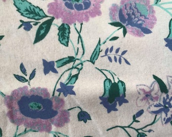 No Sew Baby Blanket, Pink knitted Fleece, Purple WildFlower Design