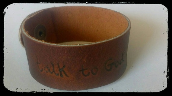 I Talk To God But The Sky Is Empty Sylvia Plath Quote Leather Etsy