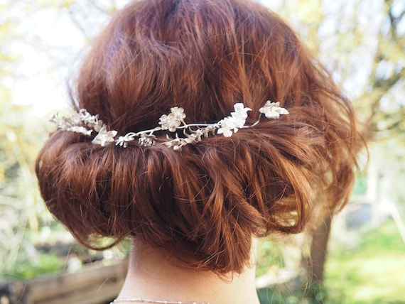 Lovely Vintage German Myrtle Crown, Silver Wedding