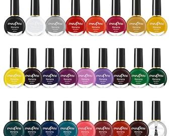 26 colors Nail Stamping Polish 10ml Colorful Printing Varnish varnish for Nail Art Stamping Plate Stencil Oil(7015-16)
