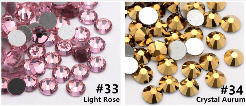 1440 pcs SS3SS4SS5 Flatback Faceted Rhinestones,Diy Deco Bling Embellishments,Glass Crystal Rhinestone,Wholesale high Quality