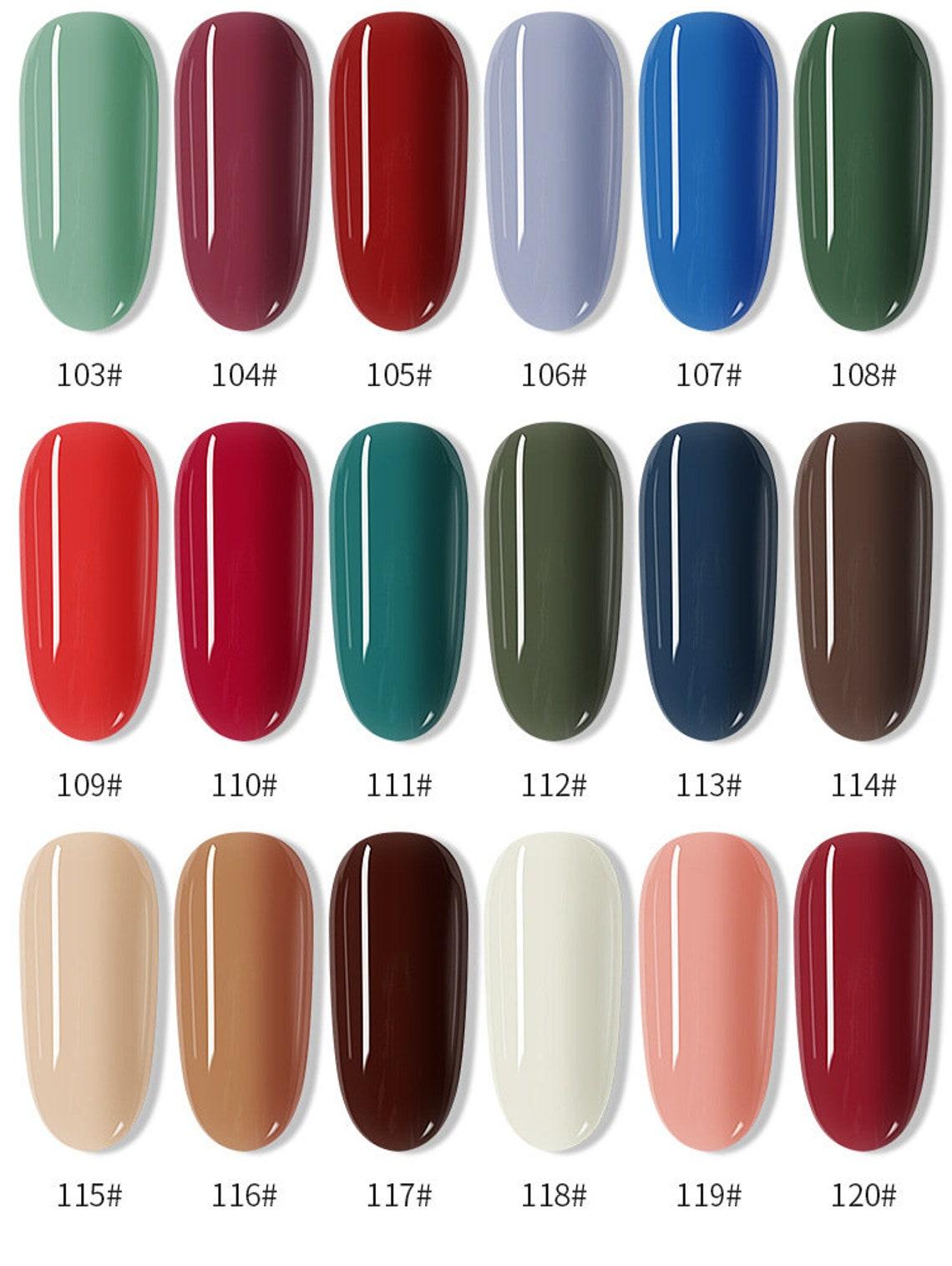 120 colors Nail Stamping Polish 7.5ml Colorful Printing image 7