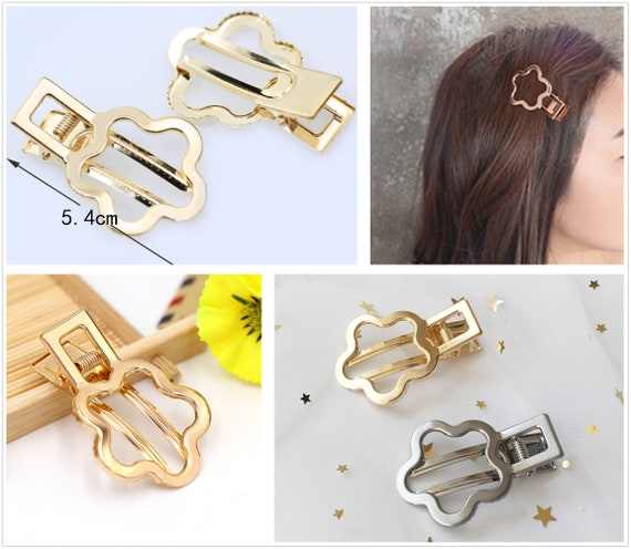 10Pcs/lot Hair Clips Fashion Hairpin Blank Base for Diy Jewelry Making Pearl Hair Clip Setting craft supplies(7002-37)