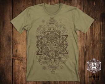 FREE SHIPPING WORLDWIDE / Sacred Geometry Clothing / Festival Clothing / Mens Clothing / Psy Clothing / Mens Shirt / Fractal Clothing /