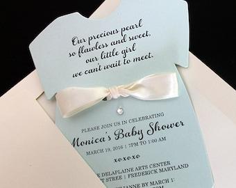 Baby Shower Invitation   Baby Birthday Invitation   Baby Blue Invitation    Baby Invitation   Blue Invitation   Baby Clothing Invitation