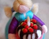 Happy Birthday, wool fairytale inspired Waldorf