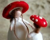 Mushrooms, wool Wladorf tale, inspiration