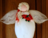 Christmas Angel, Waldorf inspired fairy tale, house decor, collectible doll, soft sculpture