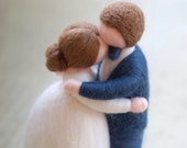 Newlyweds embraced, wool ...
