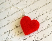 Heart necklace, wool fair...