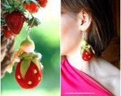 Fràgolina earring, singl...