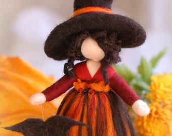 Magician, wool fairy tale, Waldorf inspiration