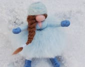 Snow girl, fairytale wool...