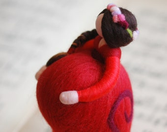 Sweet waiting, fairytale wool, Waldorf inspiration