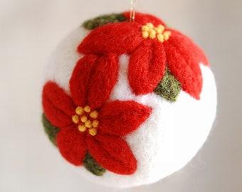 Christmas star, Christmas ball, Waldorf-inspired fairytale wool, Christmas décor, soft sculpture, collectible ball