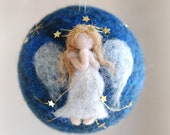 Angel, Christmas ball, Waldorf-inspired fairytale wool, Christmas décor, soft sculpture, collectible ball