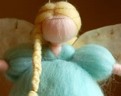 Soft angel sugar, wool fairy tale, Waldorf inspiration, home decor, collectible doll, soft sculpture