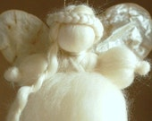 Soft Angel, Wool fairy tale, Waldorf inspiration, home decor, collectible doll, soft sculpture