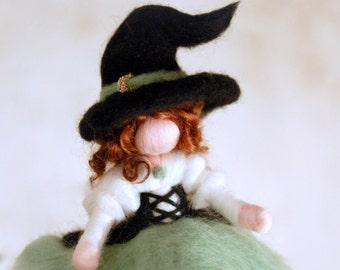 Witch Smeralda, Wool fairy tale inspiration Waldorf