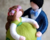 Family in sweet waiting, fairytale wool, Waldorf inspiration