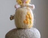 Mimosa brooch, fairy tale...