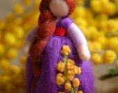 Mimosa & Anemone, Wool fa...