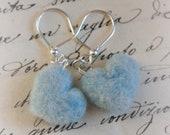 Heart earrings, wool fairy tale, Waldorf inspiration